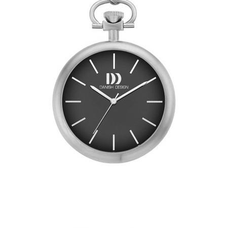 Design Bauhaus Taschenuhr, Quartz, schwarz