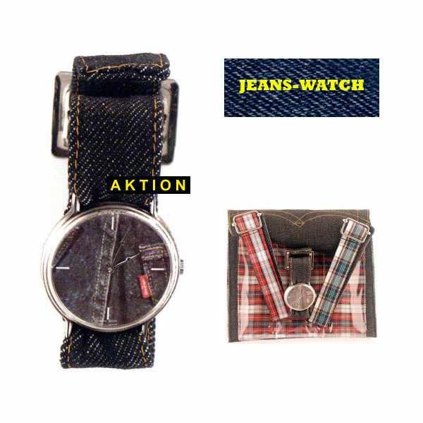 JEANS. NOS, Set Uhr mit Wechselbändern, blau_1024