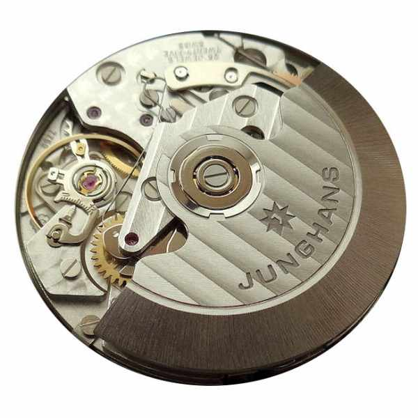 Junghans, MAX BILL 40 Chronoscope, Automatik Stripes schwarz Leder_10287