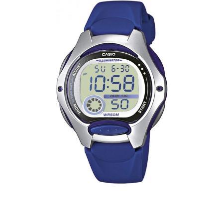 CASIO LCD Illuminator Sportuhr klein, silber-blau_10405