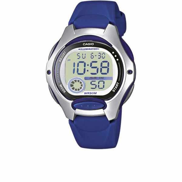 CASIO, LCD Illuminator Sportuhr klein, silber-blau_10405