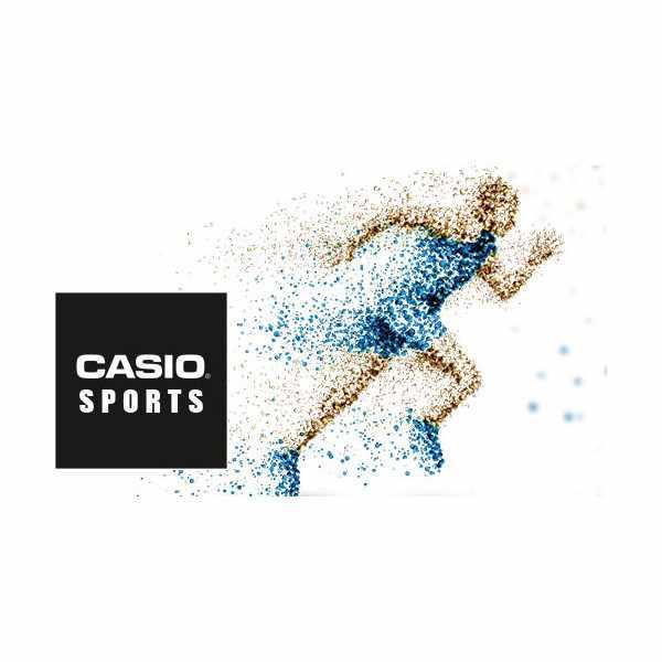 CASIO, LCD Illuminator Sportuhr klein, silber-blau_10408