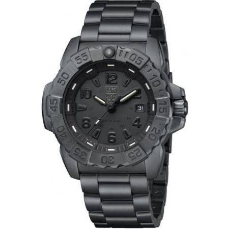 LUMINOX, Air, Navy Seal Steel, Serie 3250, Edelstahl Blackout schwarz