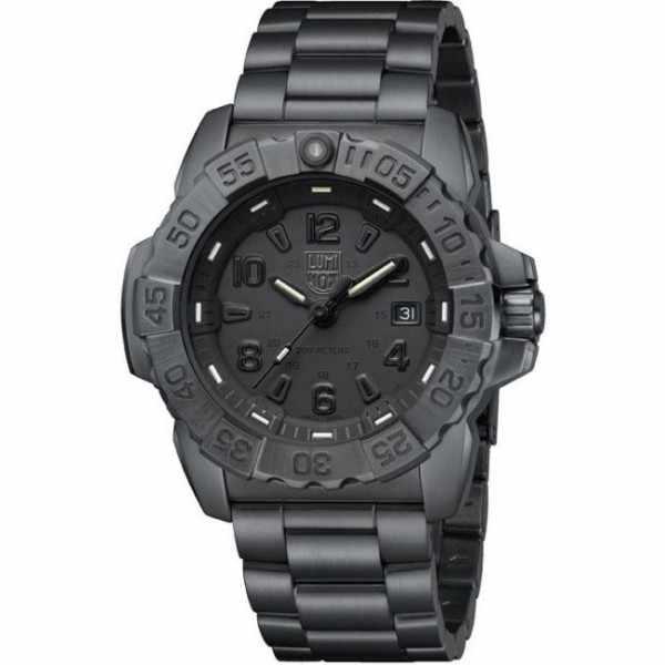 LUMINOX, Navy Seal Steel, Serie 3250, Edelstahl Blackout schwarz_10556
