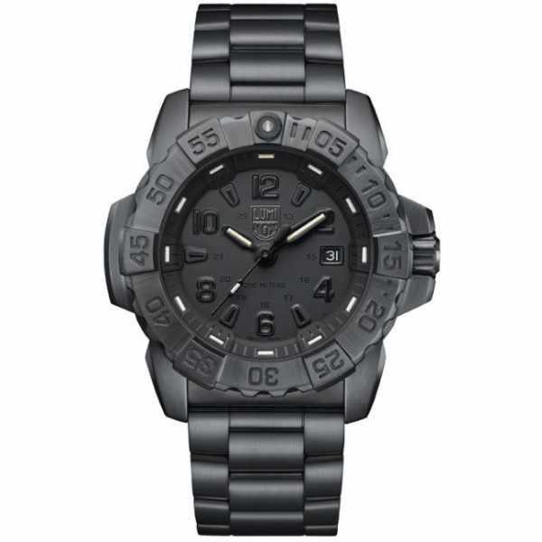 LUMINOX, Air, Navy Seal Steel, Serie 3250, Edelstahl Blackout schwarz_10559