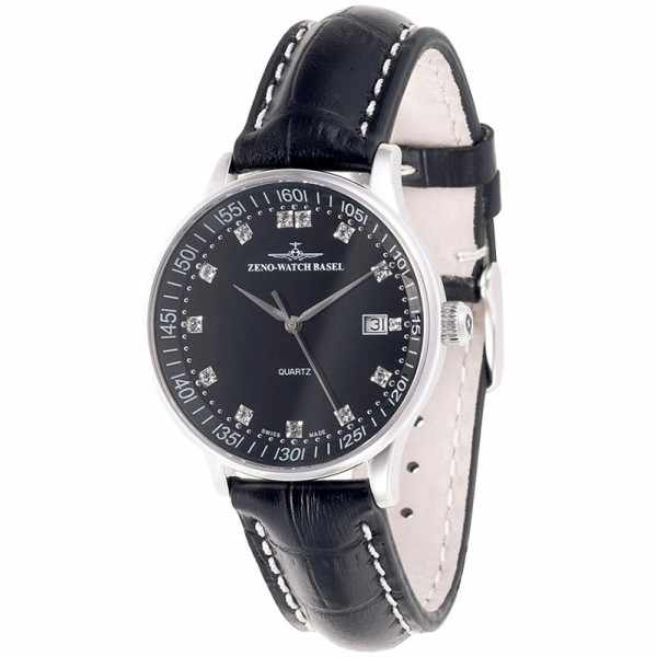 ZENO-WATCH BASEL, Medium Size Crystals, Quartzuhr schwarz_10680