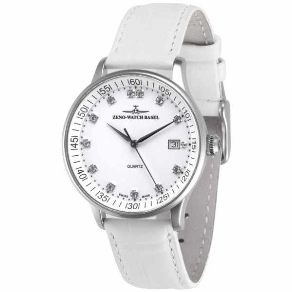 ZENO-WATCH BASEL, Medium Size Crystals, Quartzuhr weiss_10683