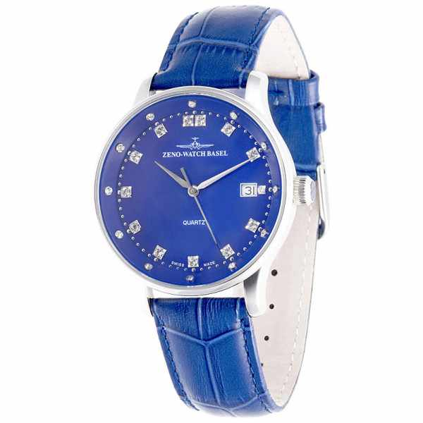 ZENO-WATCH BASEL, Medium Size Crystals, Quartzuhr blau_10684