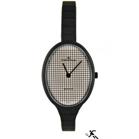 CATENA Racket, Tennis Quartzuhr, schwarz_10815