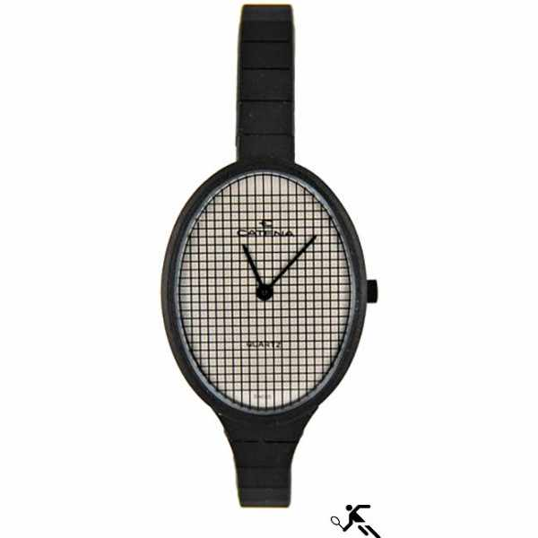 CATENA, Racket, Tennis Quartzuhr, schwarz_10815
