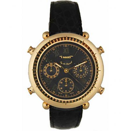 I SANTI, Chronograph Quartzuhr mit Lederband
