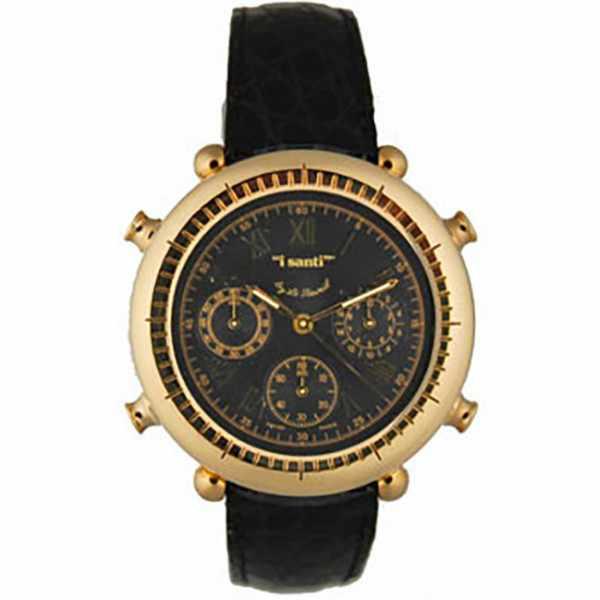 I SANTI, Chronograph Quartzuhr mit Lederband_10832