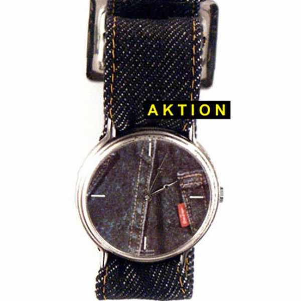 JEANS. NOS, Set Uhr mit Wechselbändern, blau_10838
