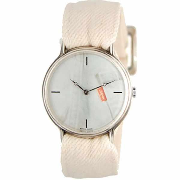 JEANS. NOS, Set Uhr mit Wechselbändern, weiss_10839