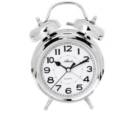 ATLANTA Glockenwecker Q, lauter Alarm, Licht, silber ⏰_10913