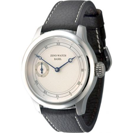 ZENO-WATCH BASEL, Retro Revue, Handaufzug Uhr mit altem 8 Tagewerk_10948