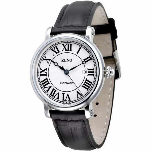 ZENO, Retro Roma Art Deco XL, Automatik Uhr, Edelstahl_10965