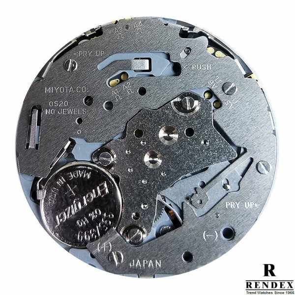 RENDEX, Multitime XXL, Dreizeitenuhr, Chrono, Quartz, Stahl_11007