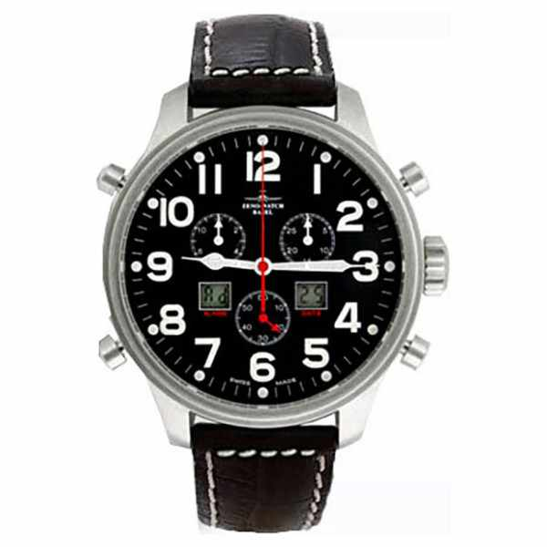 ZENO-WATCH BASEL, Pilot Oversized XL Fliegeruhr, Chrono-Alarm Ø 42mm_11063