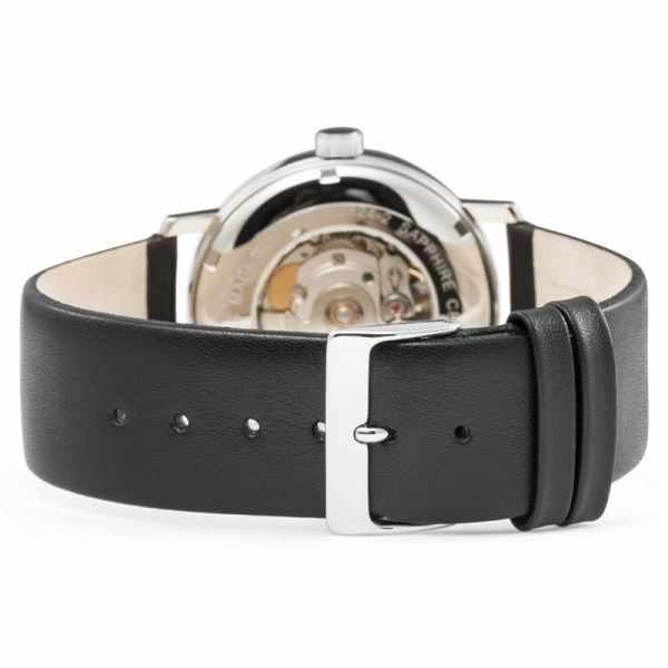 ZENO-WATCH BASEL, Bauhaus Edelstahl, Automatik Uhr, silber_11070