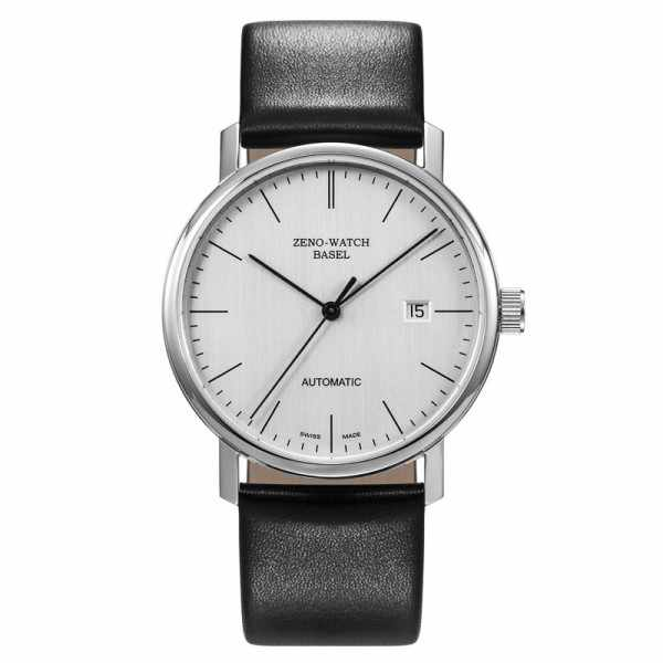 ZENO-WATCH BASEL, Bauhaus Edelstahl, Automatik Uhr, silber_11071