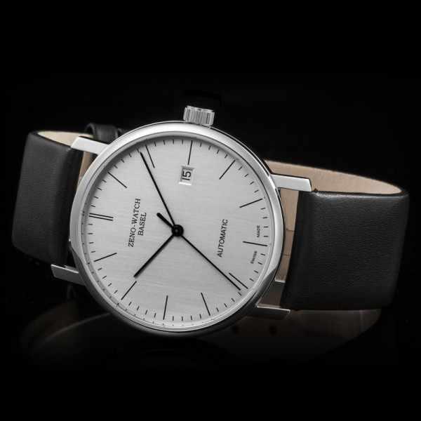 ZENO-WATCH BASEL, Bauhaus Edelstahl, Automatik Uhr, silber_11072