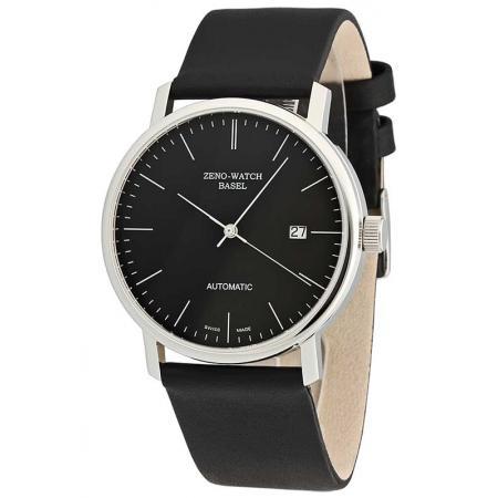 ZENO-WATCH BASEL, Bauhaus Edelstahl, Automatik Uhr, schwarz_11079