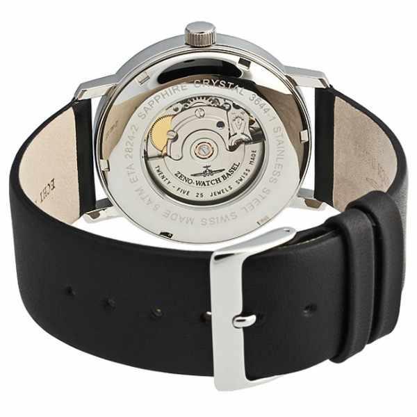 ZENO-WATCH BASEL, Bauhaus Edelstahl, Automatik Uhr, schwarz_11080