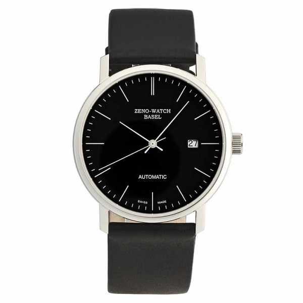 ZENO-WATCH BASEL, Bauhaus Edelstahl, Automatik Uhr, schwarz_11081