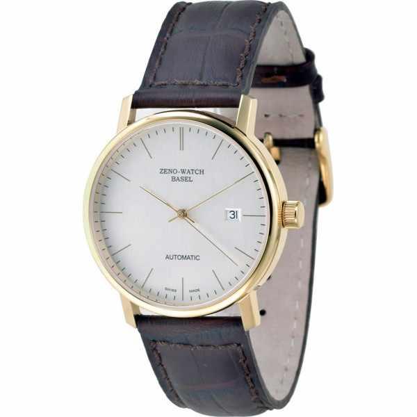ZENO-WATCH BASEL, Bauhaus vergoldet, Automatik Uhr, silber_11085