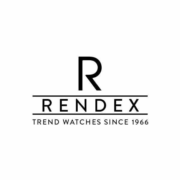 RENDEX, Jumbo Numbers, Quartz, Edelstahl schwarz_11110