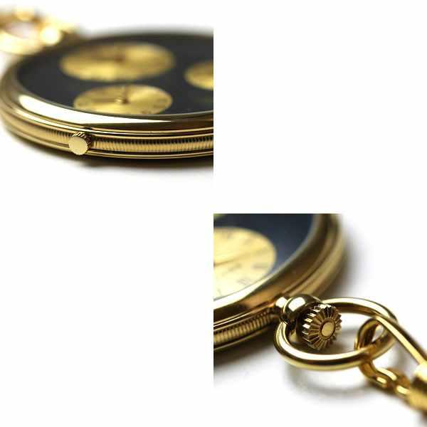 3 Zeiten Taschenuhr, Quartz, vergoldet_11393
