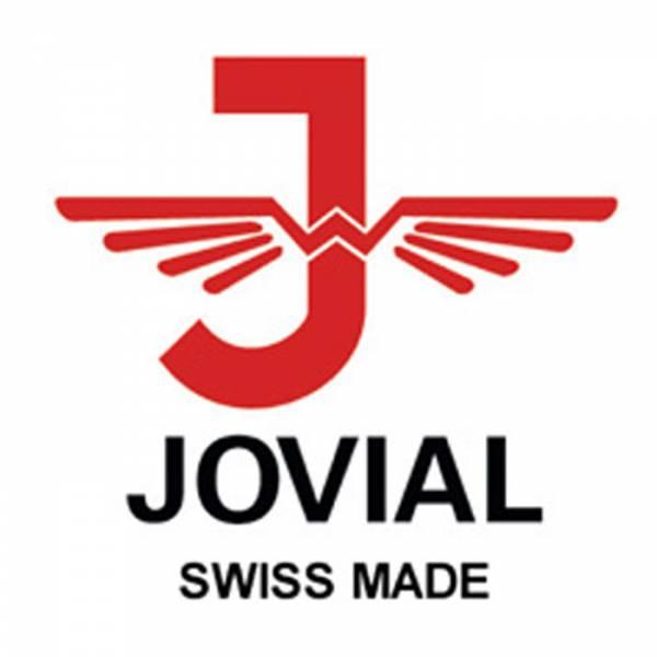 JOVIAL. NOS, Tonneau, Quartzuhr, Edelstahl schwarz_11456