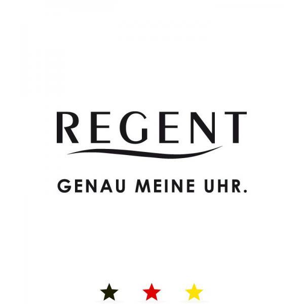 REGENT, kleine Sportuhr mit Durchzugband, schwarz_11760