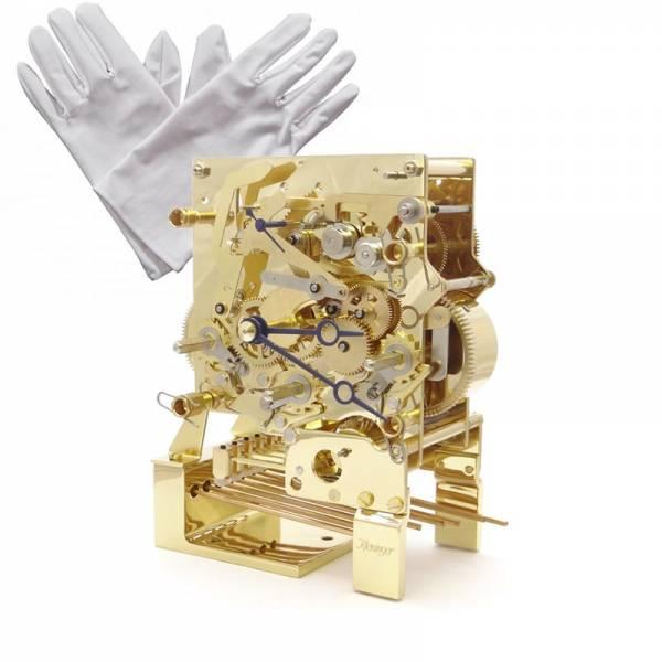 KIENINGER, Arc Skelett, mechanische Tischuhr mit 3 Melodien, gold_11783