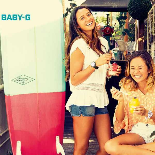 BABY-G Uhr von Casio, Nice Colors 3, weiss-grün_11810