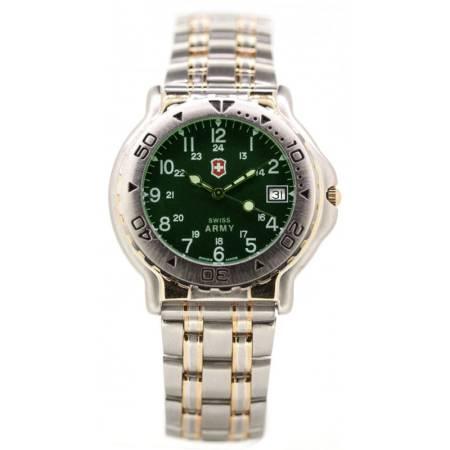 SWISS ARMY Classic Quartzuhr, bicolor grün_12116