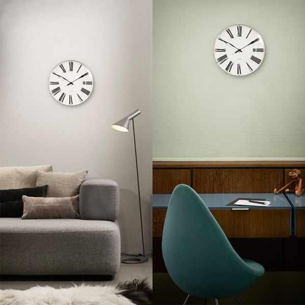 ARNE JACOBSEN Wanduhr Roman Clock 29, Silent Quartz_12228