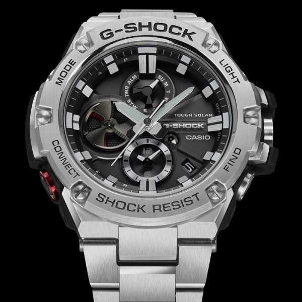 G-SHOCK, GST Steel, Bluetooth Solaruhr, Edelstahl_12356
