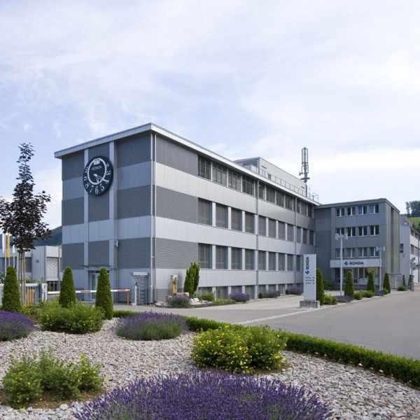 ZENO, Bauhaus Einzeigeruhr, weiss_12448
