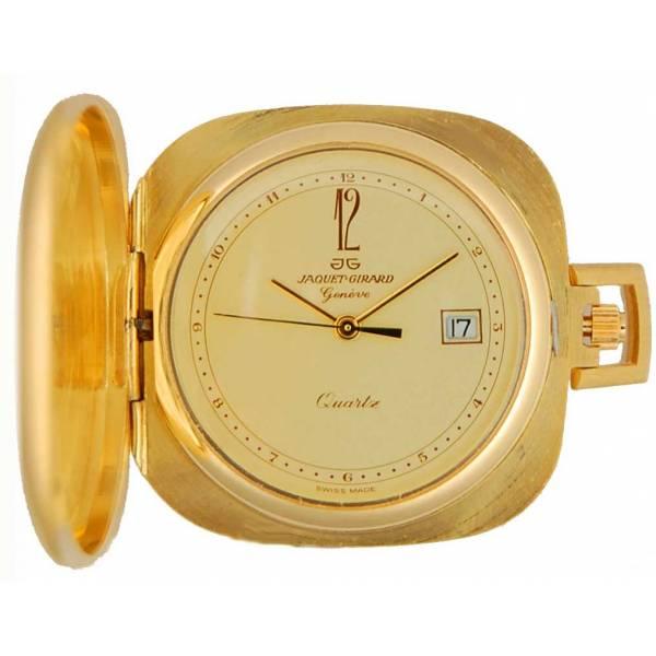 Design Taschenuhr klein, Quartz, Carré vergoldet_1247