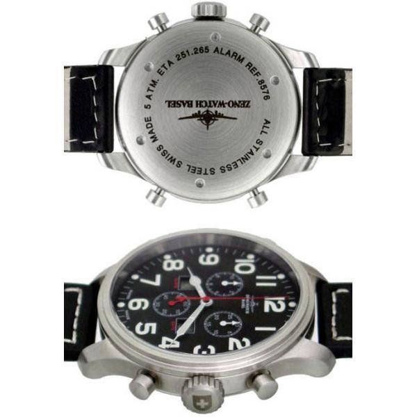 ZENO-WATCH BASEL, Pilot Oversized XL Fliegeruhr, Chrono-Alarm 47.5mm_1253