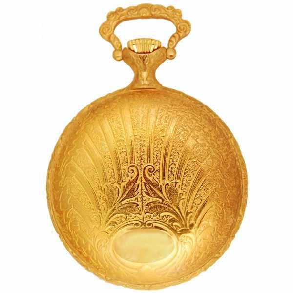 Vintage Taschenuhr Quartz, Art Deco gold_1264