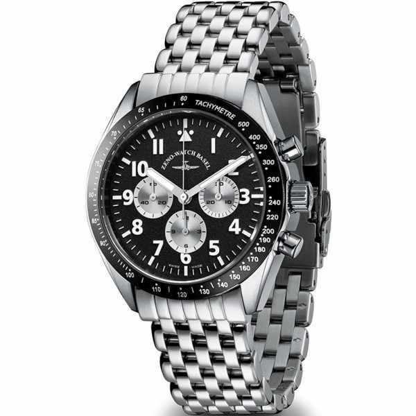 ZENO-WATCH BASEL, Lemania Handaufzug Chronograph, Edelstahl a1M_12642