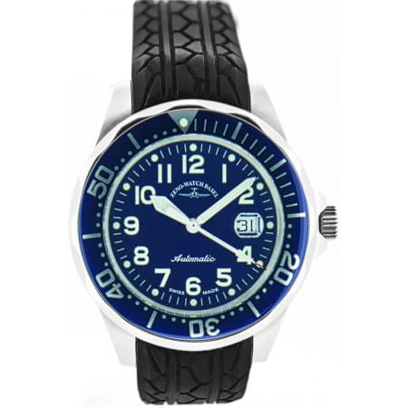 ZENO-WATCH BASEL, Diver-Look, Herrenuhr, Automatik, blau
