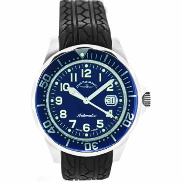 ZENO-WATCH BASEL, Diver-Look, Herrenuhr, Automatik, blau_12833