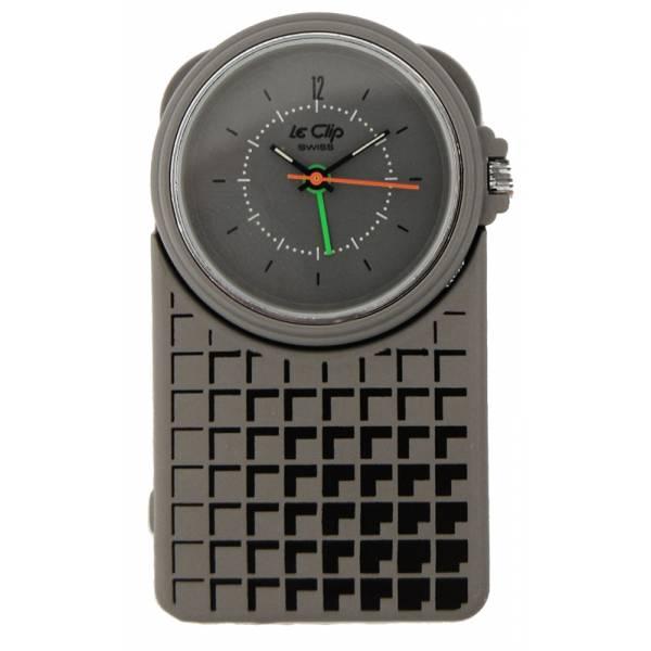 LE CLIP Alarm Anhänge-/Clippuhr mit Wecker, grau_1296