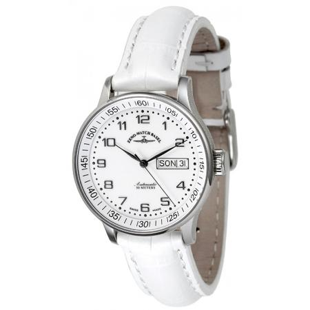 ZENO-WATCH BASEL, Medium Size Day Date, Automatik Uhr, weiss_12975