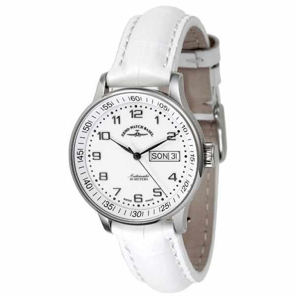 ZENO-WATCH BASEL, Medium Size Day Date, Automatik Uhr, weiss_12975