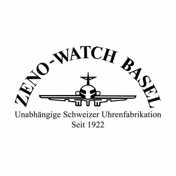 ZENO, Bauhaus Einzeigeruhr, weiss_13177